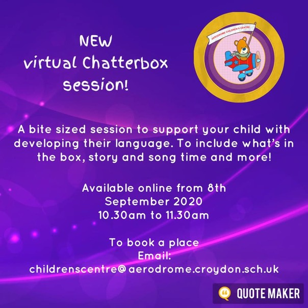 Chatterbox- Sep 20 virtual flyer