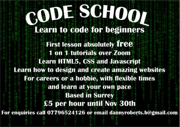 Code school tutoring Leaflet