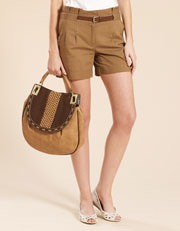 Connie Cotton Linen Shorts �35