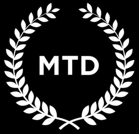 MTD logo black back