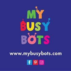 My Busy Bots Logo with info