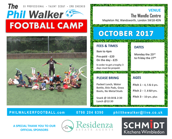 NEW FLYER OCTOBER FOOTBALL CAMP PHIL WALKER