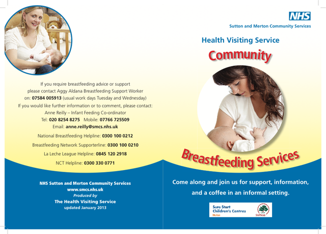 NHS Breast Feeding 4pp A5 2013 copy