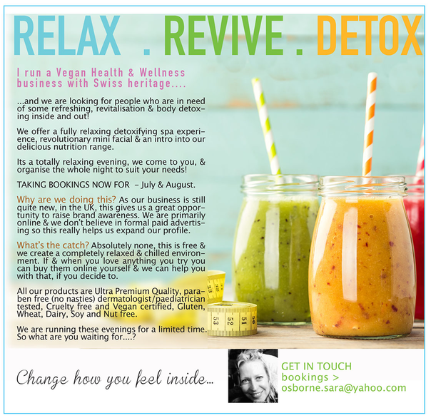 relax. revive. detox POSTER