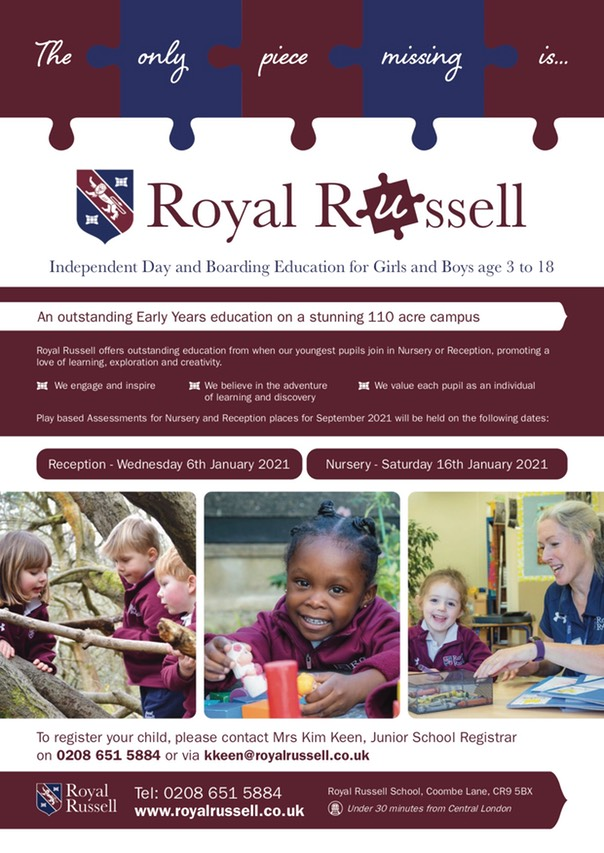 Royal Russell Junior School - Assessment flyer copy
