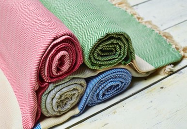 sorbet large cotton throws