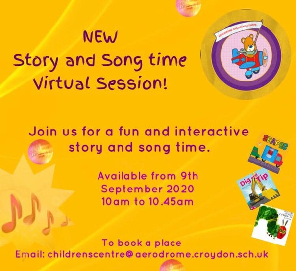 Story & Songtime- Sep 20 Virtual flyer