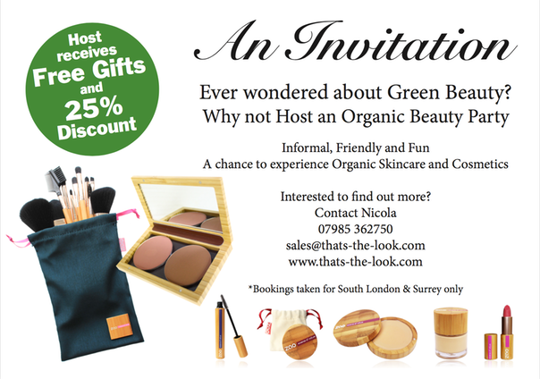 You receive a free gift of Zao make up of your choice and a set of brushes up to the value of £130.00 just for hosting. Attendees receive 25% discount on ...