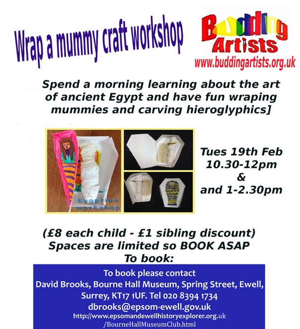 wrap a mummy workshop